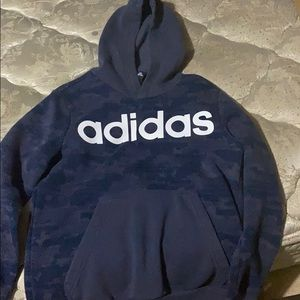 Blue Adidas Kids Sweater
